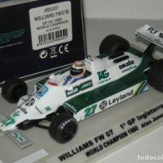 Slot Cars: F1 WILLIAMS FW07 WORLD CHAMPION ALAN JONES 1980 FLYSLOT/SCALEXTRIC NUEVO EN CAJA. Lote 261105100