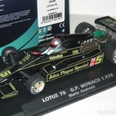 Slot Cars: F1 LOTUS 78 JPS WORLD CHAMPION 1978 ANDRETTI 1978 FLYSLOT/SCALEXTRIC NUEVO EN CAJA. Lote 261105315