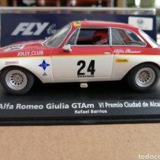 Slot Cars: A-1101 - ALFA ROMEO GIULIA GTAM Nº24 ALCAÑIZ 70 DE RAFAEL BARRIOS DE FLY. Lote 261358800