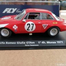 Slot Cars: A-1103 - ALFA ROMEO GIULIA GTAM ROJO Nº27 1º MONZA 71 DE FLY. Lote 261957485