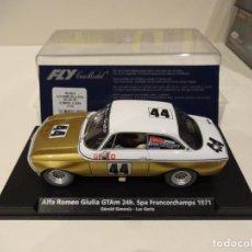 Slot Cars: FLY. ALFA ROMEO GIULIA GTAM. 24H SPA FRANCORCHAMPS 1971. SIMONIS-GORIS. REF. 88216. Lote 262131855