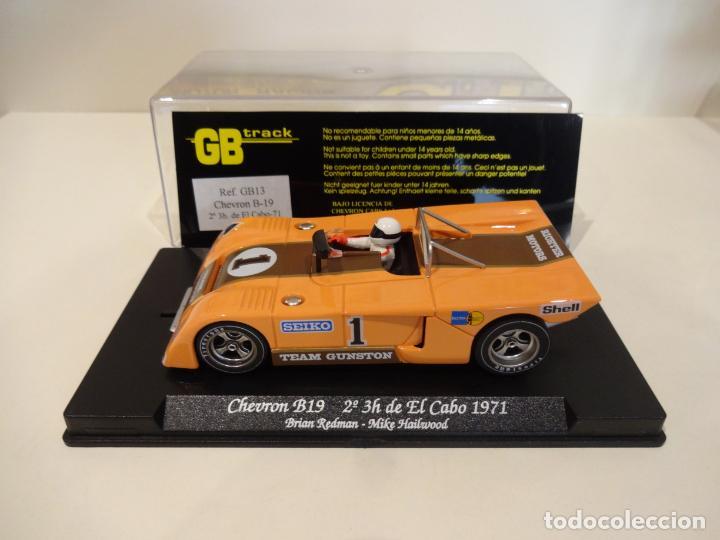 FLY. CHEVRON B19. 2º 3H DE EL CABO 1971. REDMAN - HAILWOOD. REF. GB-13 (Juguetes - Slot Cars - Fly)