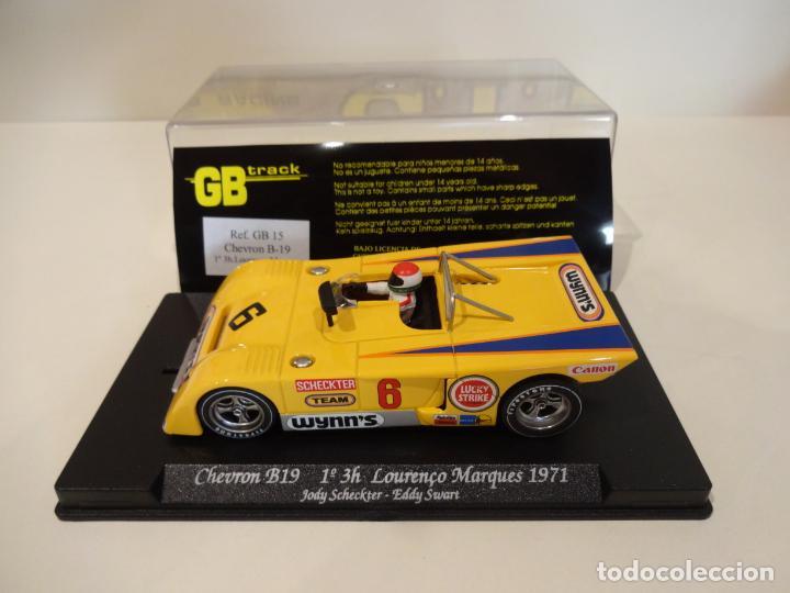 FLY. CHEVRON B19. 1º 3H LOURENÇO MARQUES 1971. SCHECKTER - SWART. REF. GB-15 (Juguetes - Slot Cars - Fly)