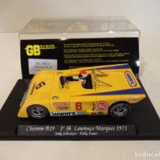 Slot Cars: FLY. CHEVRON B19. 1º 3H LOURENÇO MARQUES 1971. SCHECKTER - SWART. REF. GB-15. Lote 262455985