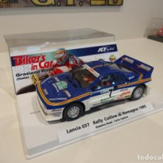Slot Cars: FLY. LANCIA 037. ROSSI. BIKERS IN CAR 02. RALLY DI ROMAGNA 1985. REF. 99103. Lote 262987910