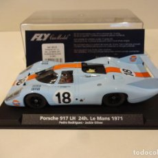 Slot Cars: FLY. PORSCHE 917 LH. GULF. LE MANS 1971. RODRIGUEZ - OLIVIER. REF. A-1402 - 88183. Lote 262990045