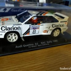 Slot Cars: ANTIGUO COCHE RALLY SLOT AUDI QUATTRO A2 RAC RALLY 1985 - FLY CAR MODELO - SCX - SCALEXTRIC. Lote 263214510
