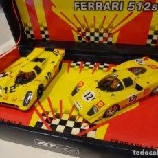 Slot Cars: FLY. TEAM SHELL. PORSCHE 917K+ FERRARI 512S. REF. S-23 - 96065. Lote 264504639