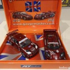 Slot Cars: FLY. SET GAUGEMASTER. SALEEN S7R + BMW M3 GTR. REF. E-263 - 88062. Lote 264523034