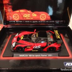 Slot Cars: FLY. MARCOS LM 600. QS QUICK FLAME 2001. REF. E-221. Lote 264524829