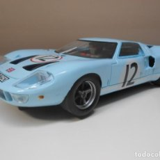 Slot Cars: SCALEXTRIC FLY MODELS COCHE FORD GT 40 AZUL CLARO LE MANS RARE CAR ALFREEDOM. Lote 265476574