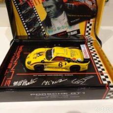Slot Cars: FLY. PORSCHE 911 GT1. STEVE MCQUEN. REF. SM4. Lote 266590008
