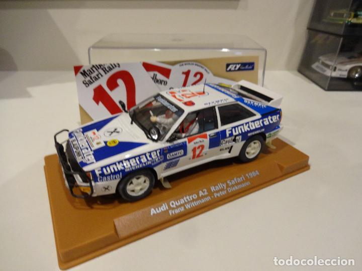 Slot Cars: Fly. Audi Quattro Safari Rally 1984. Wittmann - Diekmann. Ref. E-1901 - Foto 2 - 267491249