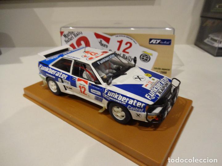 Slot Cars: Fly. Audi Quattro Safari Rally 1984. Wittmann - Diekmann. Ref. E-1901 - Foto 3 - 267491249