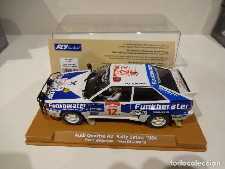 Slot Cars: Fly. Audi Quattro Safari Rally 1984. Wittmann - Diekmann. Ref. E-1901 - Foto 4 - 267491249