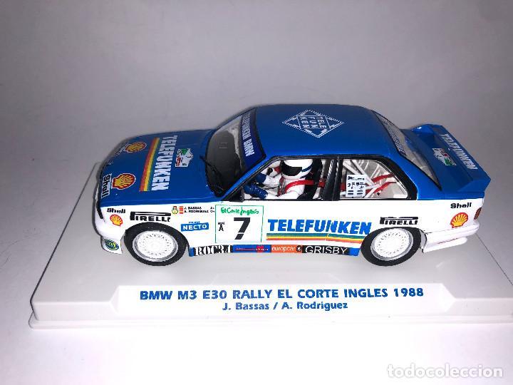 Slot Cars: FLY BMW M3 E30 Rally Corte Ingles 1988 Bassas Slot 1:32 Edición Limitada 350 unidades - Foto 2 - 267511884