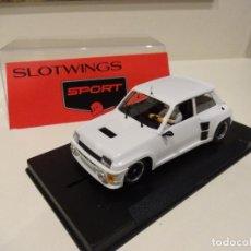 Slot Cars: FLY. SLOTWINGS. RENAULT 5 TURBO BLANCO. Lote 268789399
