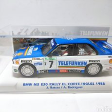 Slot Cars: FLY BMW M3 E30 RALLY EL CORTE INGLES 1988 BASSAS TELEFUNKEN EDICIÓN LIMITADA REF. E2009. Lote 268984584