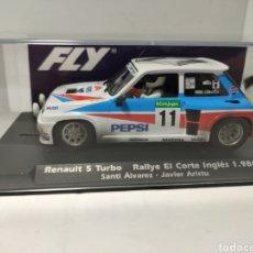 Slot Cars: FLY RENAULT 5 TURBO RALLYE EL CORTE INGLÉS 1986 EFECTO SUCIO VERSIÓN IMPORTACION REF. E2008. Lote 269461398
