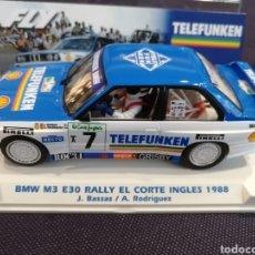 Slot Cars: BMW M3 E30 TELEFUNKEN RALLYE MONTECARLO 88 DE FLY. Lote 273672118