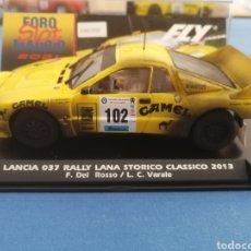 Slot Cars: LANCIA 037 CAMEL ESPECIAL FOROSLOT EFECTO SUCIO 2021 DE FLY. Lote 289690203