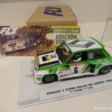 Slot Cars: FLY. RENAULT 5 TURBO. RALLYE DE LOZERE 1985. SERPAGGI - LEGAL. REF. E2016. Lote 275631888