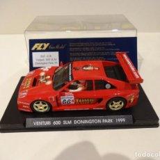 Slot Cars: FLY. VENTURI 600 SLM. DONINGTON PARK 1999. TOMB RAIDER. REF. A-18. Lote 276126588