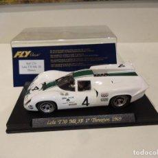 Slot Cars: FLY. LOLA T70 MK3B. 1º THRUXTON 1969. REF. C-33. Lote 277109688