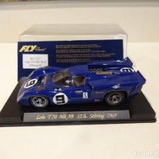 Slot Cars: FLY. LOLA T70 MK3B. 12H SEBRING 1969. REF. C-37. Lote 277109723