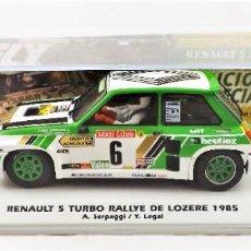 Slot Cars: FLY CAR MODEL RENAULT 5 TURBO RALLYE DE LOZERE 1985 ED. LIMITADA. Lote 278345323