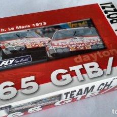 Slot Cars: FLY CAR MODEL, TEAM 09 CH. POZZI 365 GTB/4 DAYTONA LE MANS 73, VÁLIDO SCALEXTRIC. Lote 283287803