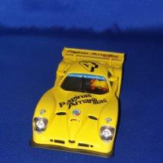 Slot Cars: SLOT CAR SCALEXTRIC FLY T7 PANOZ ESPERANTE GTR-1 PÁGINAS AMARILLAS Nº 4. Lote 286899678