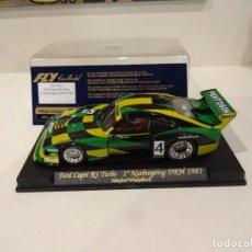 Slot Cars: FLY. FORD CAPRI RS TURBO. 1º NURBURGRING DRM 1981. REF. A-142. Lote 287142838