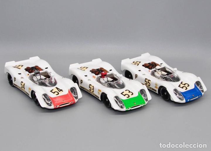 Slot Cars: Team Porsche 908/2 1º-2º-3º 6 Horas Brands Hatch 1969 (Fly Car Model) - Foto 2 - 287944573