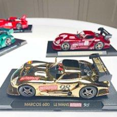 Slot Cars: MARCOS 600 LM LE MANS AUTOPISTA 98 ORO. Lote 287973238