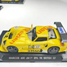 Slot Cars: MARCOS 600 LM 1º SPA 98 B. GT AZLAN. Lote 287974083