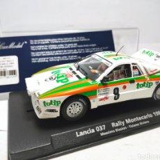 Slot Cars: FLY LANCIA 037 RALLY MONTECARLO 1984 BIASION REF. 88151. Lote 288307083