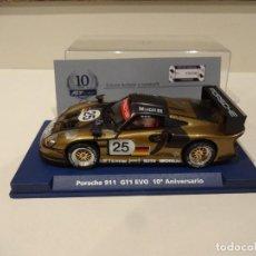 Slot Cars: FLY. PORSCHE 911 GT1 EVO. 10º ANIVERSARIO FLY. REF. A-2003. Lote 289906778