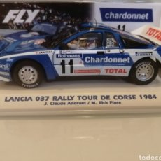 Slot Cars: E2023. LANCIA 037 RALLY TOUR DE CORSE 1984 DE FLY. Lote 292542383