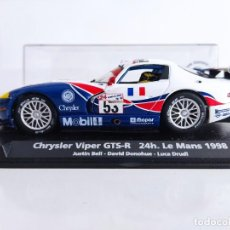 Slot Cars: COCHE CON LUCES SCALEXTRIC CHRYSLER VIPER GTS-R 24H. LE MANS 1998. FLY. DODGE. Lote 293593103