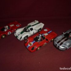 Slot Cars: MAGNIFICOS 4 COCHES SCALEXTRIC FLY. Lote 294563423