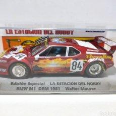 Slot Cars: FLY BMW M1 DRM 1981 ED.ESPECIAL LA ESTACIÓN DEL HOBBY REF. 99086. Lote 295525773