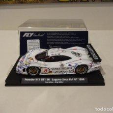 Slot Cars: FLY. PORSCHE 911 GT1 98. WARSTEINER. LAGUNA SECA FIA GT 1998. REF. A-77. Lote 295792008