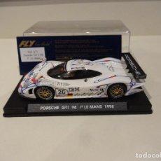 Slot Cars: FLY. PORSCHE 911 GT1 98. 1º LE MANS 1998. REF. A-71. Lote 295792238