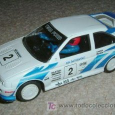 Slot Cars: SUPERSLOT-SCALEXTRIC FORD ESCORT COSWORTH TEAM FORD CON LUCES Y STOPS MAGIC CARS. Lote 10430339