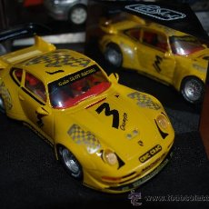 Slot Cars: PORSCHE GTR, GUIA SLOT RACING, #3, AMARILLO, PRO SLOT. Lote 19594283