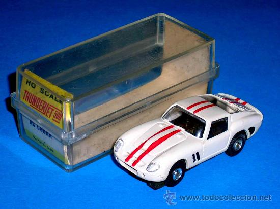 Slot Cars: Ferrari 250 slot car, fabricado en plástico, esc. aprox. 1/75, Aurora, Original años 60. Con caja. - Foto 2 - 26447271