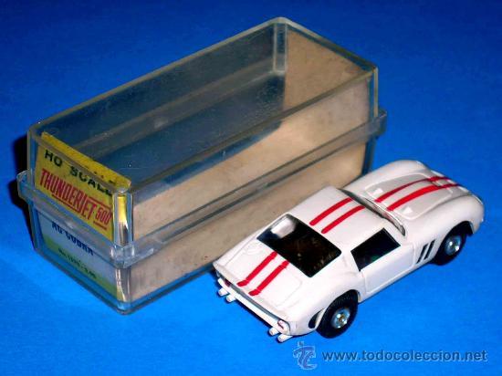 Slot Cars: Ferrari 250 slot car, fabricado en plástico, esc. aprox. 1/75, Aurora, Original años 60. Con caja. - Foto 3 - 26447271