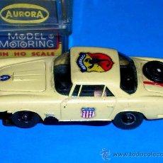 Slot Cars: MASERATI SLOT CAR, FABRICADO EN PLÁSTICO, ESC. APROX. 1/75, AURORA, ORIGINAL AÑOS 60. CON CAJA.. Lote 24939273