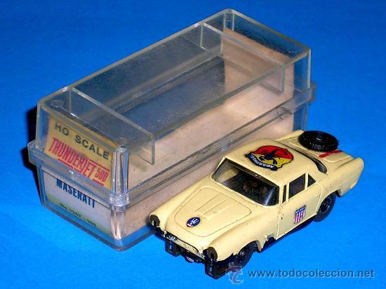 Slot Cars: Maserati slot car, fabricado en plástico, esc. aprox. 1/75, Aurora, Original años 60. Con caja. - Foto 2 - 24939273